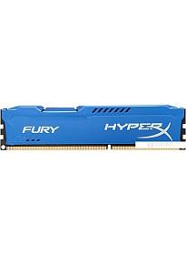 Оперативная память Kingston HyperX Fury Blue 8GB DDR3 PC3-12800 (HX316C10F/8)