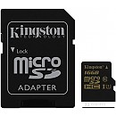 Карта памяти Kingston microSDHC UHS-I (Class 10) 16GB + SD адаптер (SDCA10/16GB) фото и картинки на Povorot.by