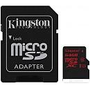 Карта памяти Kingston microSDXC UHS-I U3 (Class 10) 64GB (SDCA3/64GB) фото и картинки на Povorot.by