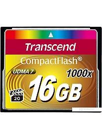 Карта памяти Transcend 1000x CompactFlash Ultimate 16GB (TS16GCF1000)