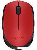 Мышь Logitech M171 Wireless Mouse красный/черный [910-004641]