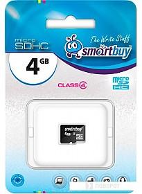 Карта памяти Smart Buy microSDHC (Class 4) 4 Гб (SB4GBSDCL4-00)