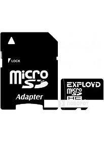 Карта памяти Exployd microSDHC (Class 10) 4GB + адаптер [EX004GCSDHC10]
