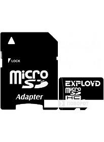 Карта памяти Exployd microSDHC (Class 4) 8GB + адаптер [EX008GCSDHC4]