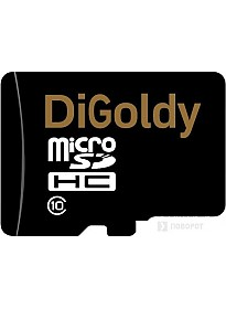 Карта памяти DiGoldy microSD (Class 10) 8GB [DG008GCSDHC10-W/A-AD]