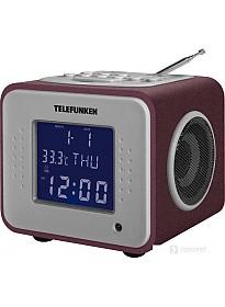 Радиочасы TELEFUNKEN TF-1575U (бордо)