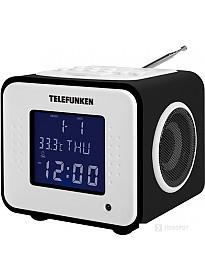 Радиочасы TELEFUNKEN TF-1575U (черное дерево)