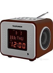 Радиочасы TELEFUNKEN TF-1575U (темное дерево)