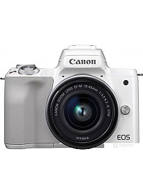 Фотоаппарат Canon EOS M50 Kit 15-45mm (белый)