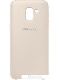 Чехол Samsung Dual Layer cover для Samsung Galaxy J6 (золотистый)