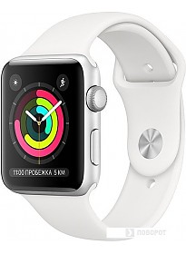 Умные часы Apple Watch Series 3 42 мм (серебристый алюминий/белый)