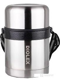 Термос для еды Diolex DXF-600-1 0.6л (серебристый)