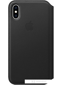 Чехол Apple Leather Folio для iPhone XS Black