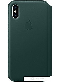 Чехол Apple Leather Folio для iPhone XS Forest Green