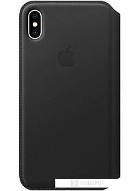 Чехол Apple Leather Folio для iPhone XS Max Black