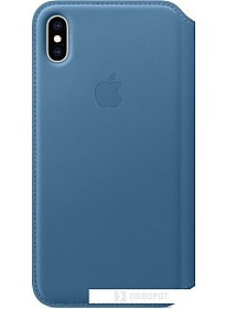 Чехол Apple Leather Folio для iPhone XS Max Cape Cod Blue