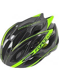 Cпортивный шлем Force Bull L/XL (черный/салатовый)