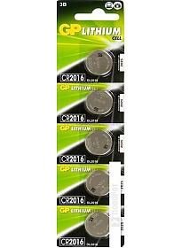Батарейки GP Lithium CR2016 5 шт.