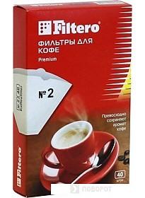 Фильтр для кофе Filtero Premium №2/40
