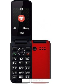 Мобильный телефон Inoi 247B (красный)