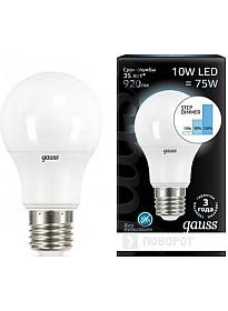 Светодиодная лампа Gauss E27 10 Вт 4100 K [102502210-S]