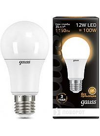 Светодиодная лампа Gauss E27 12Вт 2700K [102502112]