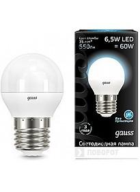 Светодиодная лампа Gauss E27 6.5 Вт 4100 К [105102207]