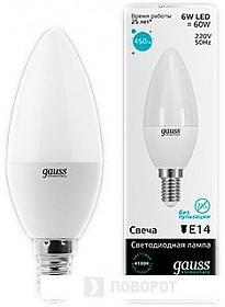 Светодиодная лампа Gauss Elementary E14 6Вт 4100К [33126]