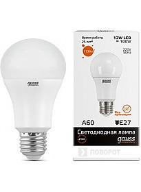 Светодиодная лампа Gauss Elementary E27 12Вт 2700K [23212]