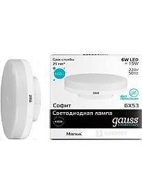 Светодиодная лампа Gauss Elementary GX53 6Вт 4100К [83826]