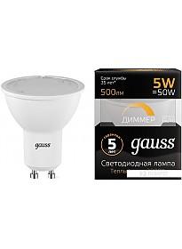 Светодиодная лампа Gauss LED MR16 GU10 5 Вт 2700 К 101506105-D