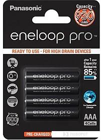 Аккумуляторы Panasonic Eneloop Pro AAA 930mAh 4 шт. (BK-4HCDE/4BE)