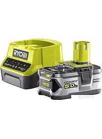 Аккумулятор с зарядным устройством Ryobi RC18120-150 ONE+ 5133003366 (18В/5.0 а*ч + 18В)