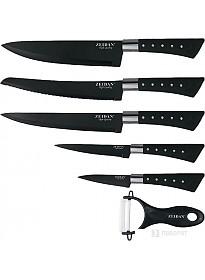 Набор ножей ZEIDAN Z-3090 (черный)