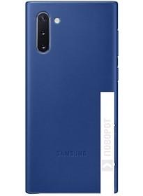 Чехол Samsung Leather Cover для Samsung Note10 (синий)