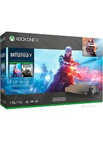 Игровая приставка Microsoft Xbox One X 1TB Золотая лихорадка и Battlefield V