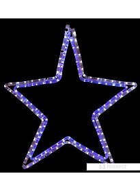 3D-фигура Neon-night Звезда (56x60 см, белый/синий) [501-514]