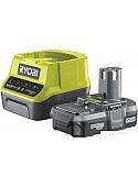 Аккумулятор с зарядным устройством Ryobi RC18120-113 5133003354 (18В/1.3 Ah + 18В)