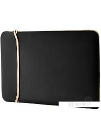 Чехол для ноутбука HP Reversible Sleeve 15.6 (черный/золотой)