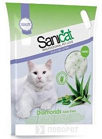 Наполнитель Sanicat Professional Diamonds Aloe Vera 5 л