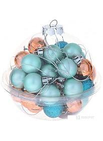 Елочные игрушки Зимнее волшебство Малыши 40 шт (оранжевый/бирюзовый)