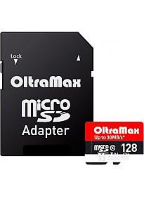 Карта памяти Oltramax Elite microSDXC UHS-I (Class 10) 128GB + адаптер