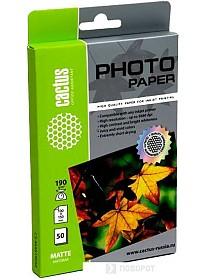 Фотобумага CACTUS Матовая А6 190 г/м2 50 листов (CS-MA619050)