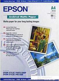 Фотобумага Epson Archival Matte Paper A4 50 листов (C13S041342)
