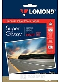 Фотобумага Lomond Суперглянцевая ярко-белая A6 270 г/м2 20 листов [1106102]