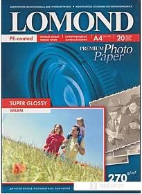 Фотобумага Lomond суперглянцевая односторонняя A4 270 г/кв.м. 20 листов (1106101)