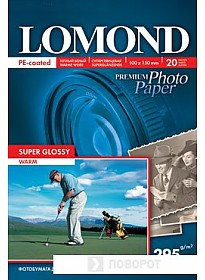 Фотобумага Lomond Суперглянцевая темно-белая A6 295 г/кв.м. 20 листов (1108103)