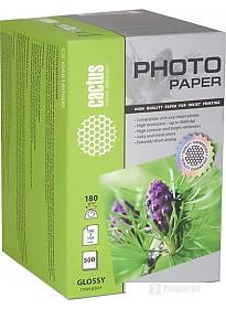 Фотобумага CACTUS Глянцевая A6 180 г/кв.м. 500 листов (CS-GA6180500)