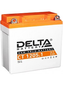 Мотоциклетный аккумулятор Delta CT 1205.1 (5 А·ч)