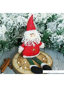 Елочные игрушки Зимнее волшебство Дед Мороз искорка 33 см (красный)